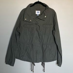 Old Navy army green utility jacket size L